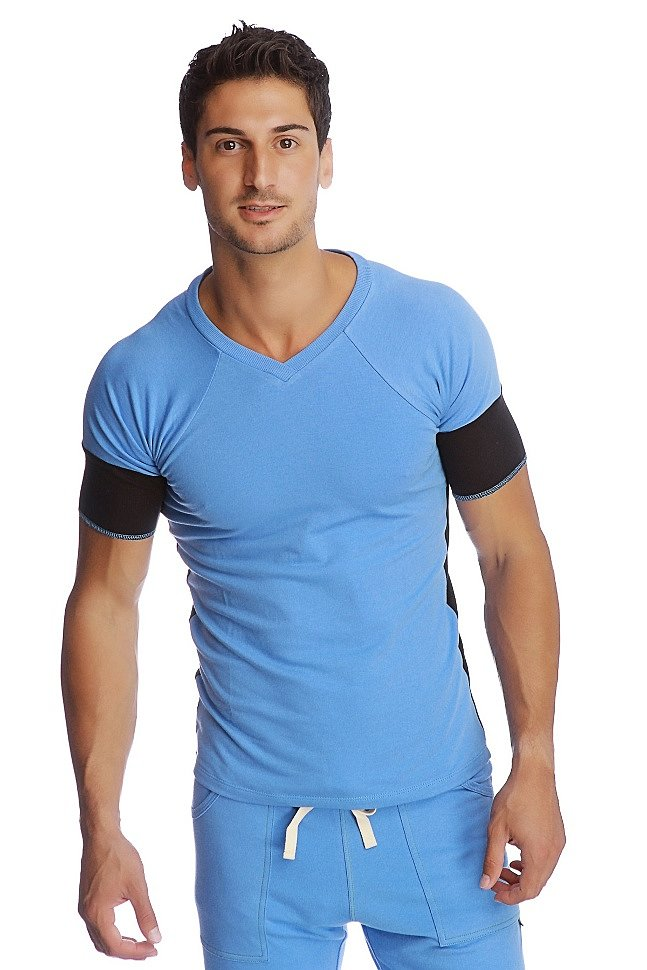 Men's T-shirt - Raglan Virtual Crew Neck