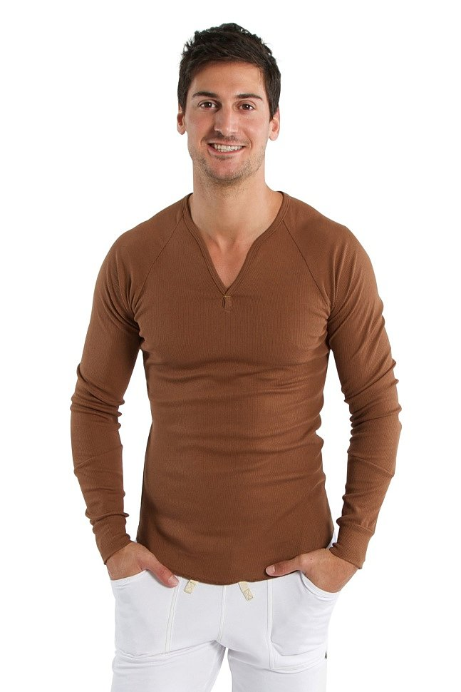 Thermal V-Neck Long Sleeve (Chocolate)