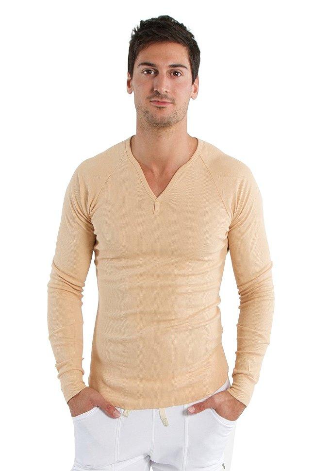 Thermal V-Neck Long Sleeve for men (Sand)