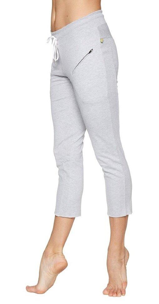 Women's 4/5 Length Zipper Pocket Capri Yoga Pants (Heather Grey)
