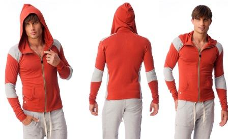 Mens Crossover Hoodie for Yoga & Fitness