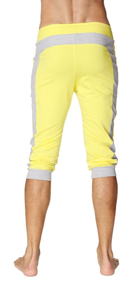 d15ba8f7cf Organic Men's Transition Cuffed Yoga Pants (Tropic Yellow w/Grey ...