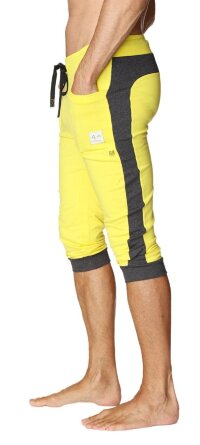 Cuffed Yoga Pants for men (Tropic Yellow w/Charcoal)