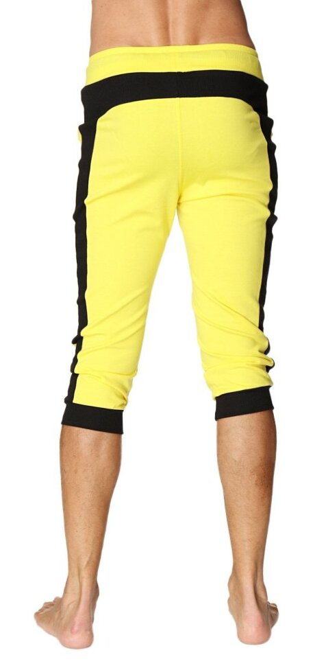 442120f7e3 Mens Transition Cuffed Capri Yoga Pant (Tropic Yellow w/Black) buy ...