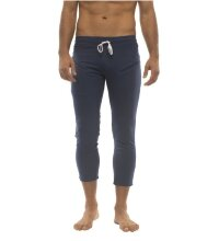 Mens 4/5 Zipper Pocket Capri Yoga Pants (Solid Royal Blue)
