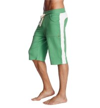 Eco Track Shorts for Men (Bamboo Green w/White)