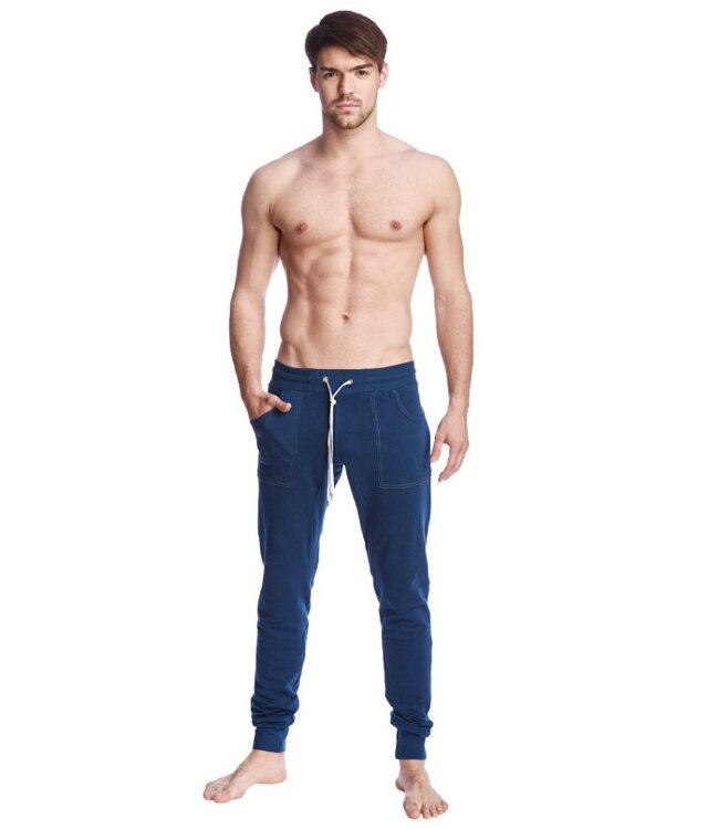 Men's Long Jogger Yoga Sweatpants (Royal Blue)