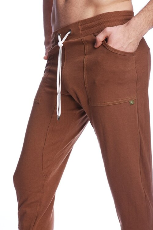 Long Cuffed Perfection Yoga Pants (Chocolate Brown)_3.jpeg