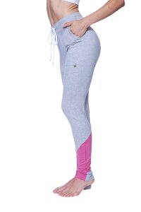 Women's Performance Yoga Pant (Heather Grey w/Berry)