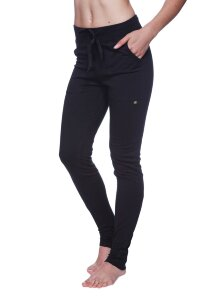 "Women's ""Long"" Performance Yoga Pant (Solid Black)"