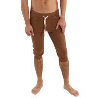 Men's Cuffed Yoga Pants (Solid Chocolate)