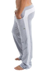 Eco-Track Pants (Heather Grey w/White)