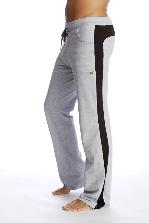 Men's Track Pants for Yoga & Fitness (Heather Grey- Black)_0.1.jpg