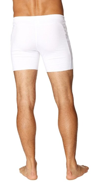 Transition Yoga Short (White) - back view