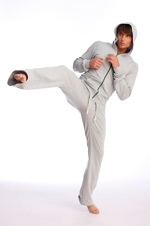 Men's Track Pants for Yoga & Fitness (Solid Heather Grey)_0.1.jpg