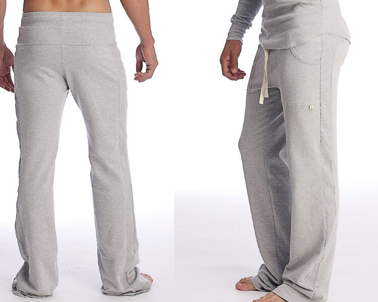 Track Pants for men for Yoga (Solid Heather Grey).jpg