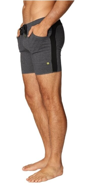 Mens Transition Yoga Shorts (Charcoal w/Black)
