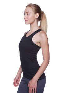 Women's All-American Racerback Tank Top (Black)