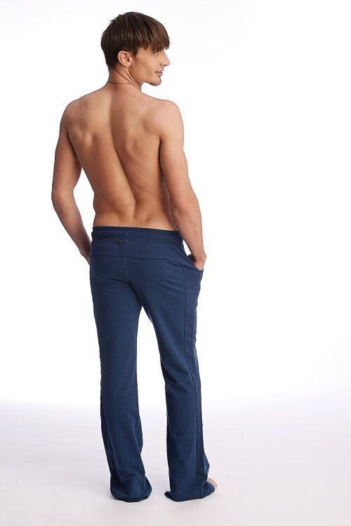 Mens Track Pant for Yoga (Solid Royal Blue).jpg