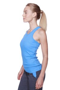 Women's All-American Racerback Tank Top (Ice Blue)