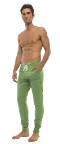 Long Cuffed Jogger Yoga Pants (Bamboo Green)