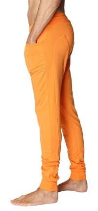Long Cuffed Jogger Yoga Pants (Sun Orange)