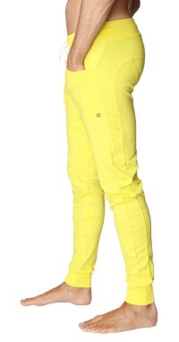 Long Cuffed Jogger Yoga Pants (Tropic Yellow)