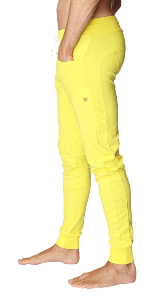 100b77d6b9 Fashonable Men's Long Cuffed Jogger Yoga Pants (Tropic Yellow) buy ...