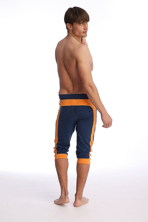 Guys Cuffed Yoga Pants (Royal Blue w-Orange)5m.jpg