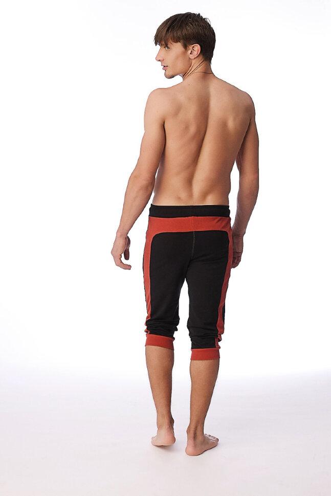 dc58264f88974 100% Organic Transition Cuffed Yoga Pants for men (Black Cinnabar ...