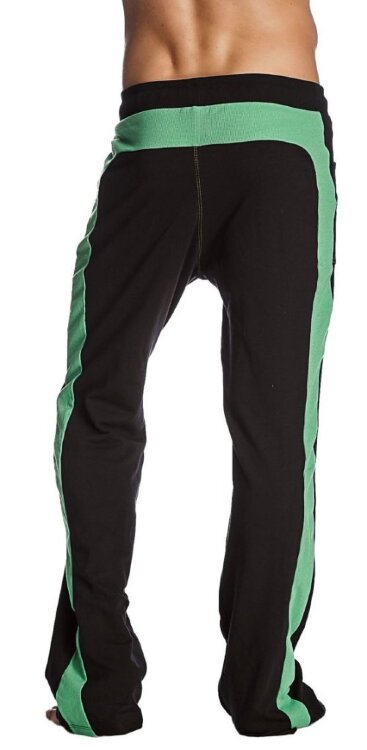 Eco-Track Pant (Black w/Bamboo Green) - back view