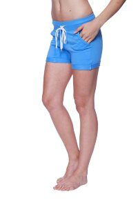 Women's Performance Yoga Short (Solid Ice Blue)