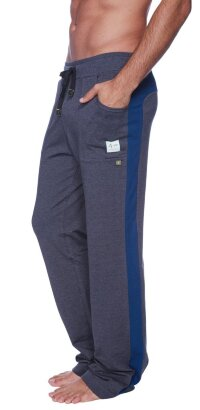 Eco-Track Pants (Charcoal w/Royal Blue)