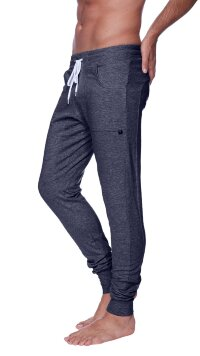 Long Cuffed Jogger Yoga Pants (Charcoal)