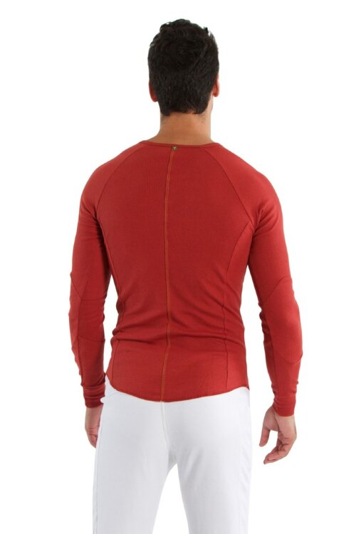 Mens Thermal V-Neck Long Sleeve - Cinnabar - 2.jpg