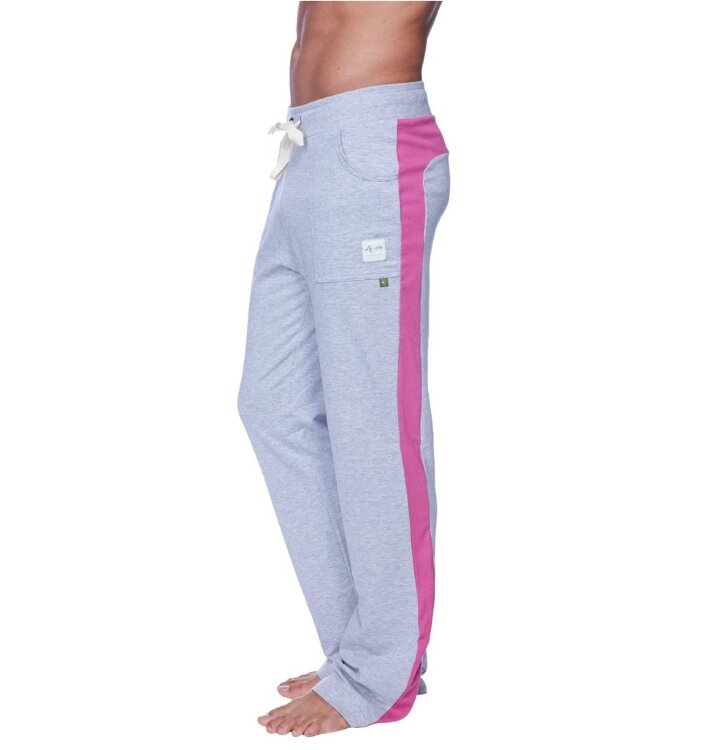 Men's Dress Yoga Pants (Heather Grey w/Berry)