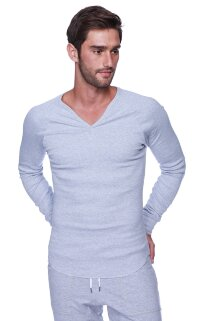 Thermal V-neck Long Sleeve (Heather Grey)
