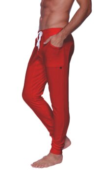 Long Cuffed Jogger Yoga Pants (Cinnabar)