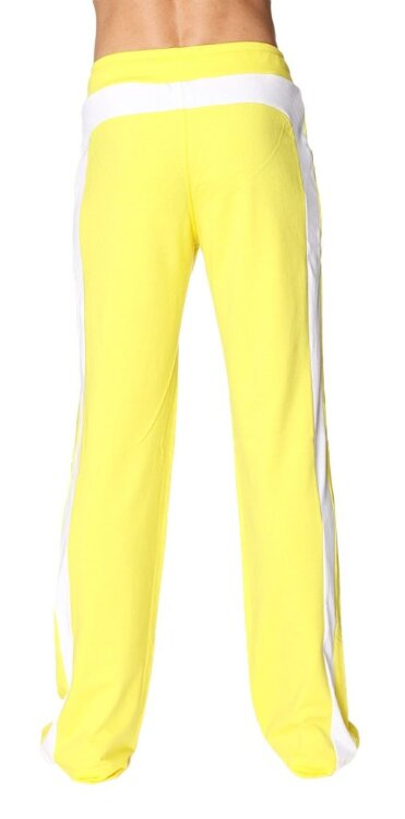 Men's Eco-Track Yoga Pant (Yellow w/White) - back view