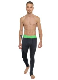 Mens Performance Yoga Leggings - Long (Charcoal Heather)