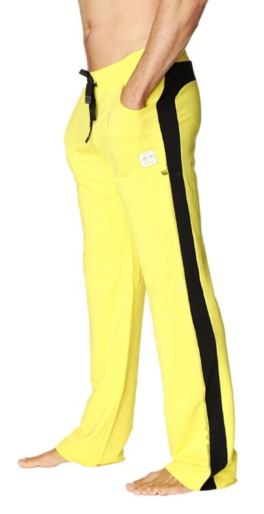 Eco-Track Yoga Pants for Men (Yellow w/Black) - side view