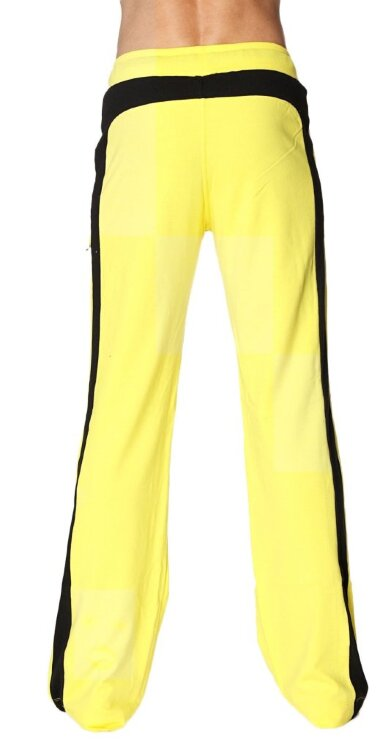 Eco-Track Yoga Pants for Men (Yellow w/Black) - back view