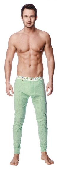 Crosstrain Thermal Yoga Pant (Green & White Stripe)