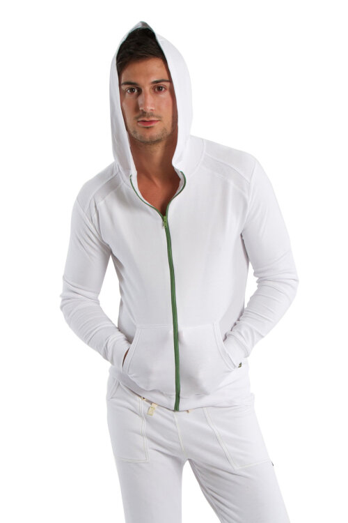 Crossover Hoodie for Men (White)