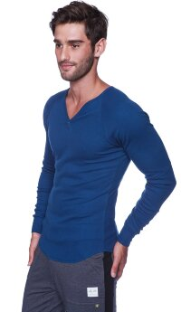 Thermal V-Neck Long Sleeve (Royal)