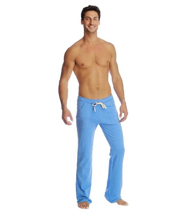 Mens Loose Yoga Track Pants (Ice Blue)
