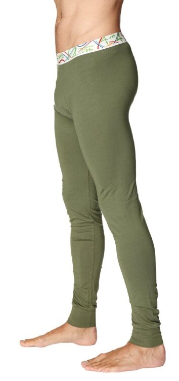Crosstrain Thermal Yoga Pant (Rainforest Green) - side view