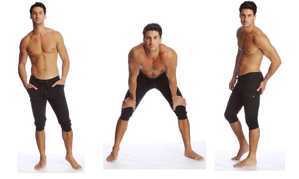 Buy Cuffed Yoga Pants for men (Black) at Yoga-Eco-Clothing.com ...