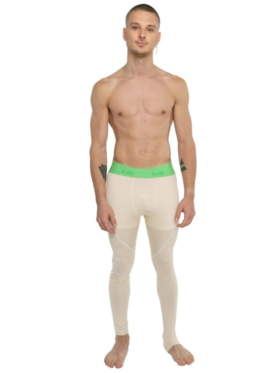 Men's Performance Compression Yoga Tights (Sand Beige)