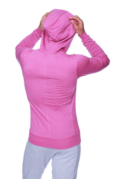 Crossover Hoodie for Yoga (Berry) - front view